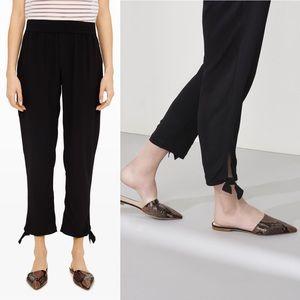 Club Monaco | Blaise 100% Silk Tie Pant Black 4
